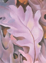 Purple Leaves, 1922 by O'Keeffe | Painting Reproduction