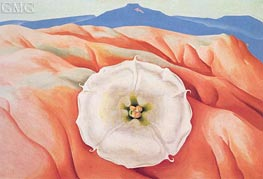 Datura and Pedernal, 1940 by O'Keeffe | Painting Reproduction