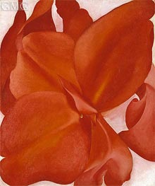 Red Cannas, 1927 by O'Keeffe | Painting Reproduction