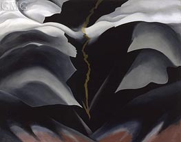 Black Place II, 1944 by O'Keeffe | Painting Reproduction