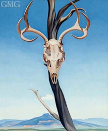 Deer's Skull with Pedernal, 1936 by O'Keeffe | Painting Reproduction