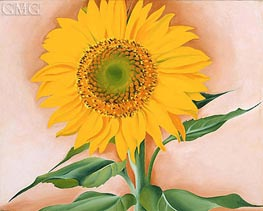 A Sunflower from Maggie, 1937 by O'Keeffe | Painting Reproduction