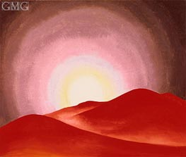 Red Hills, Lake George, 1927 by O'Keeffe | Painting Reproduction
