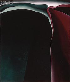Dark Abstraction, 1924 by O'Keeffe | Painting Reproduction