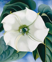 Jimson Weed (White Flower I), 1932 by O'Keeffe | Painting Reproduction