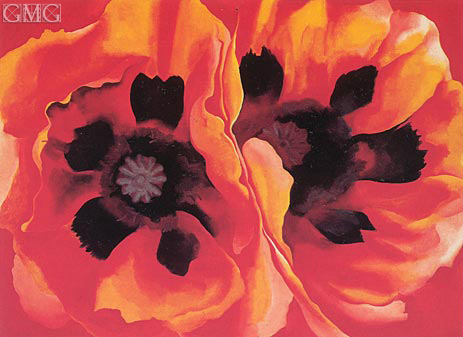 Oriental Poppies, 1928 | O'Keeffe | Painting Reproduction
