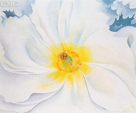 White Flower, 1929 | O'Keeffe| Painting Reproduction