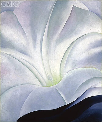 Morning Glory with Black, 1926 | O'Keeffe| Painting Reproduction