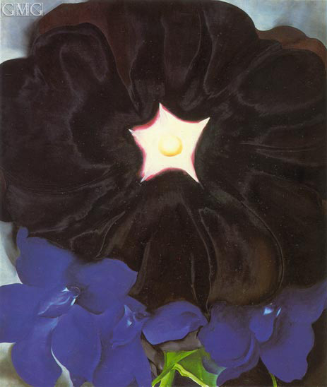 Black Hollyhock, Blue Larkspur, 1929 | O'Keeffe | Painting Reproduction