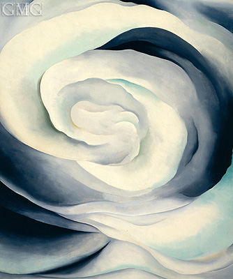 Abstraction, White Rose II, 1927 | O'Keeffe | Gemälde Reproduktion