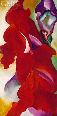 Red Snapdragons, undated | O'Keeffe | Gemälde Reproduktion