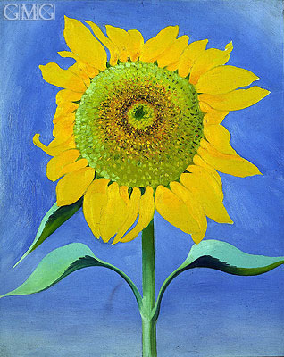 Sunflower, New Mexico, I, 1935 | O'Keeffe | Gemälde Reproduktion