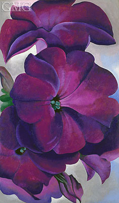 Petunias, 1925 | O'Keeffe| Painting Reproduction