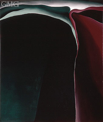 Dark Abstraction, 1924 | O'Keeffe| Gemälde Reproduktion