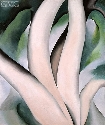 Birch Trees at Dawn on Lake George, 1925 | O'Keeffe| Painting Reproduction