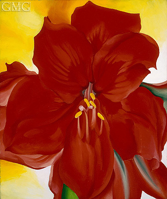 Red Amaryllis, 1937 | O'Keeffe| Painting Reproduction
