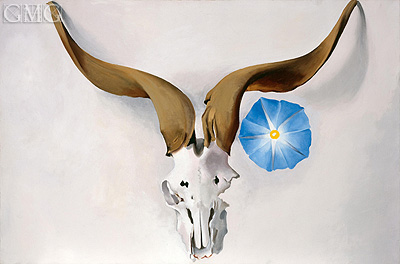 Ram's Head, Blue Morning Glory, 1938 | O'Keeffe| Gemälde Reproduktion