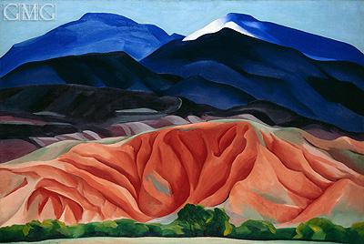 Black Mesa Landscape, New Mexico (Out Back of Marie's II), 1930 | O'Keeffe| Painting Reproduction