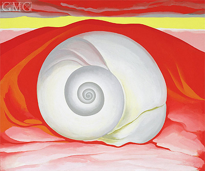 Red Hills with White Shell, 1938 | O'Keeffe | Painting Reproduction