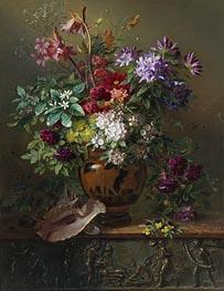 Stillleben mit Blumen in einer griechischen Vase: Allegorie des Frühlings, 1817 von Georgius van Os | Gemälde-Reproduktion