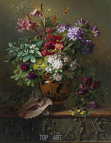 Georgius van Os | Still Life with Flowers in a Greek Vase: Allegory of Spring, 1817