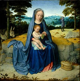 The Rest on the Flight into Egypt, c.1510 by Gerard David | Painting Reproduction