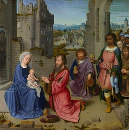 Adoration of the Kings, c.1515 by Gerard David | Painting Reproduction