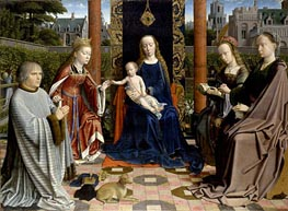 The Virgin and Child with Saints and Donor, c.1510 by Gerard David | Painting Reproduction