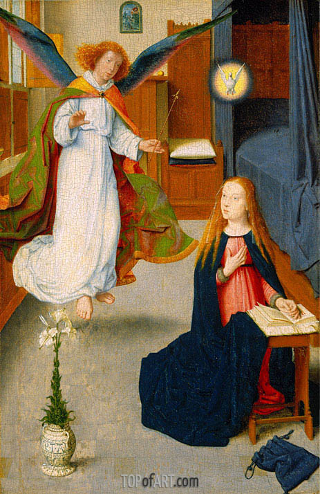The Annunciation, c.1490 | Gerard David | Gemälde Reproduktion