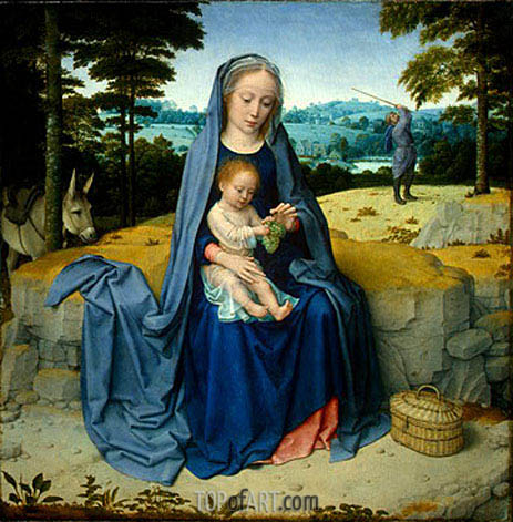 The Rest on the Flight into Egypt, c.1510 | Gerard David | Painting Reproduction