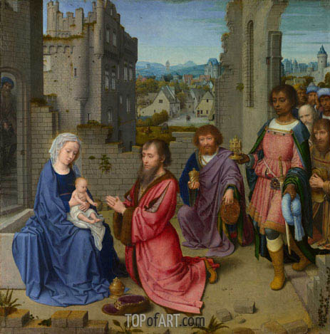 Adoration of the Kings, c.1515 | Gerard David | Painting Reproduction