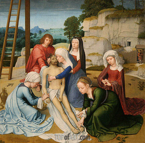 Gerard David | Lamentation (Deposition), c.1515/23
