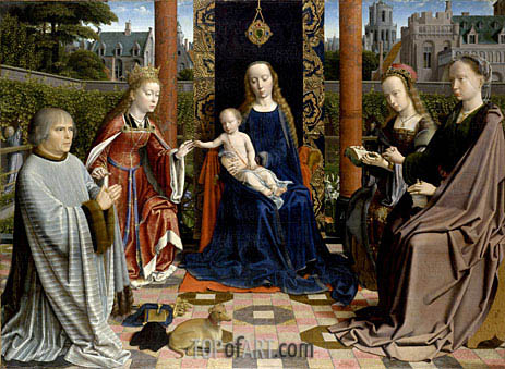 The Virgin and Child with Saints and Donor, c.1510 | Gerard David | Painting Reproduction