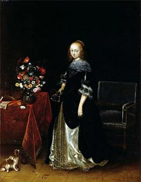 Portrait of a Young Woman | Gerard ter Borch | outdated