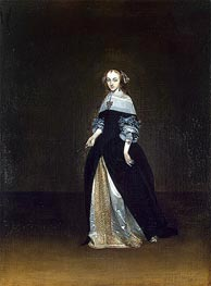 Portrait of Catarina van Leunink, c.1654/81 by Gerard ter Borch | Painting Reproduction