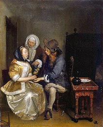 The Glass of Lemonade, c.1660 by Gerard ter Borch | Painting Reproduction