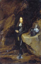 Portrait of a Man in Girds Himself, undated by Gerard ter Borch | Painting Reproduction