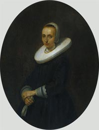 Portrait of Johanna Bardoel, 1644 by Gerard ter Borch | Painting Reproduction