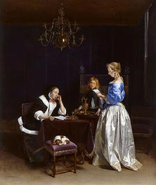 The Letter, c.1660/62 by Gerard ter Borch | Painting Reproduction