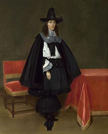 Portrait of a Young Man, c.1663/64 by Gerard ter Borch | Painting Reproduction