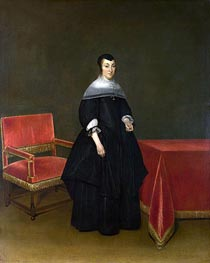 Portrait of Hermanna van der Cruis, c.1665/69 by Gerard ter Borch | Painting Reproduction