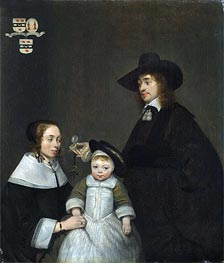 The van Moerkerken Family, c.1653/54 by Gerard ter Borch | Painting Reproduction