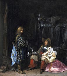 The Unwelcome Message, 1653 by Gerard ter Borch | Painting Reproduction