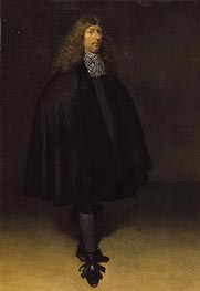Self Portrait, c.1668 by Gerard ter Borch | Painting Reproduction