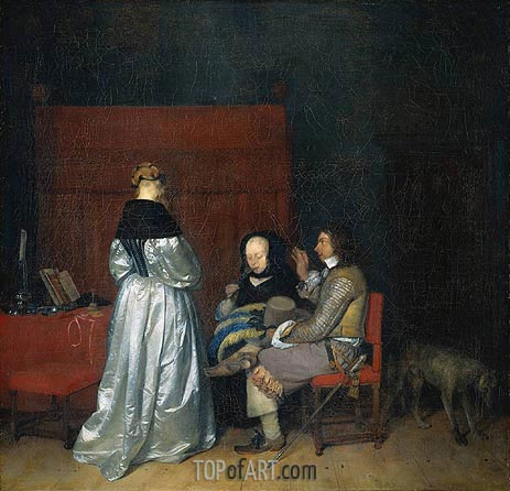 Gerard ter Borch | Paternal Admonition, c.1655