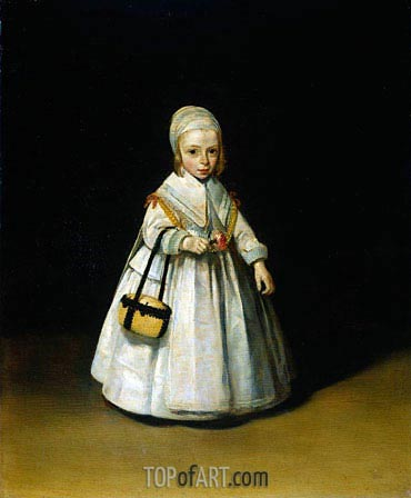 Helena van der Schalcke, c.1648 | Gerard ter Borch| Painting Reproduction