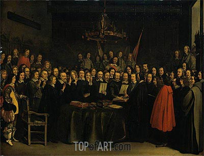 Gerard ter Borch | The Ratification of the Treaty of Munster, 15 May 1648, 1648