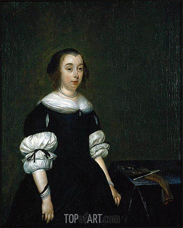 Gerard ter Borch | Portrait of a Woman, 1681
