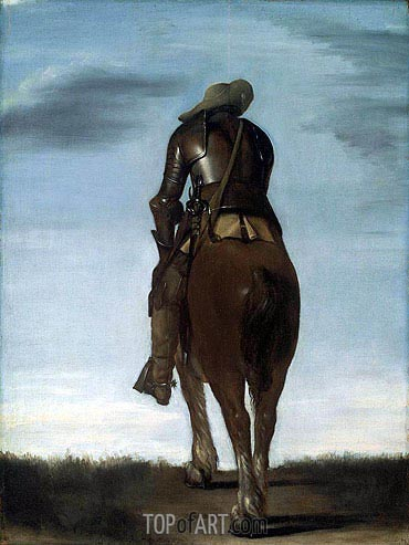 Man on Horseback, 1634 | Gerard ter Borch| Gemälde Reproduktion