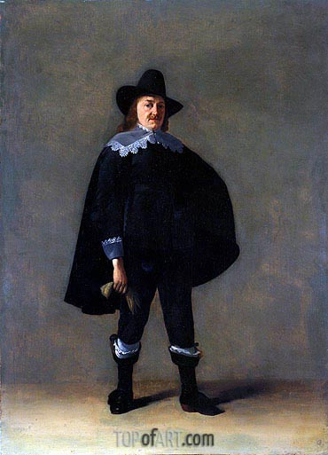 Portrait of a Gentleman in Black, c.1639/40 | Gerard ter Borch| Gemälde Reproduktion
